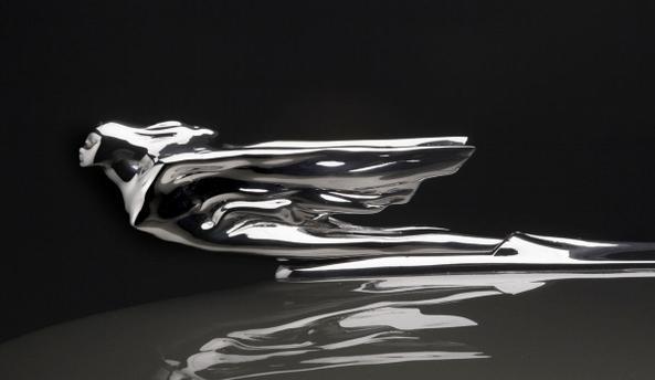 Detalhe do símbolo da Cadillac