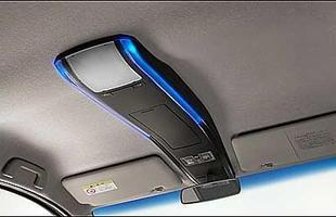 Tanto Exe Custom é mais moderninho, com iluminação interna em tons azuis