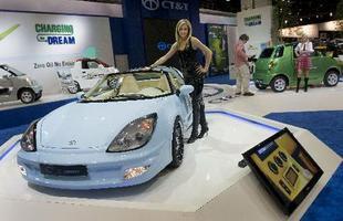 O CT&T C Square é o mais desejável carro elétrico da marca, um esportivo com capota removível e velocidade máxima de 160 km/h