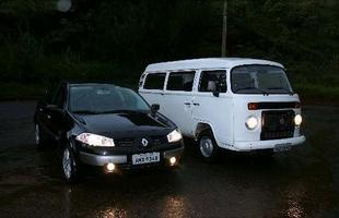 Um comparativo inusual: em 2006 a recém-chegada Renault Mégane enfrentou o monovolume, já com o motor 1.4 refrigerado a líquido