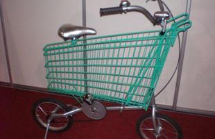 Feira tem bicicletas conceituais, como esta feita por alunos da Fumec, um modelo feito para as compras