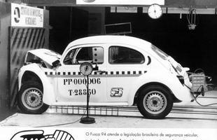 Novos tempos: o Fusca de 1994 atendia a legislação de crash test