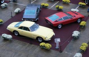 Ferrari Superfast 500 1967 (C), Maserati Ghibli 1971 (E) e Maserati Khamsim 1975