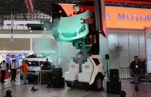 Supergudam é o Kia Mohave transformado em robô. Lembra o seriado Power Rangers