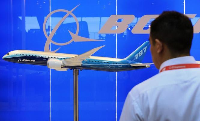 Display do Boeing 787