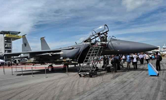 F-15SG, exposto pela Boeing