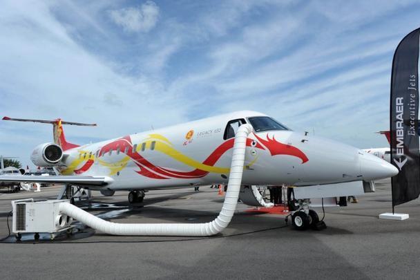 Embraer Legacy 650 Executive, o avião do ator Jack Chan
