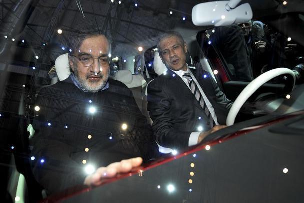 CEOs da Fiat Boris Tadic e Sergio Marchionne