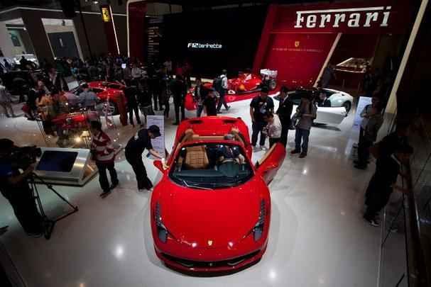 Estande da Ferrari