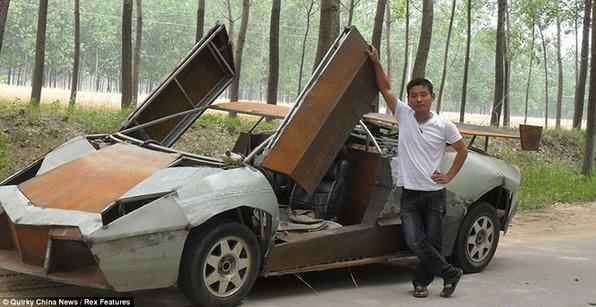 Por R$ 19 mil chinês constroi réplica de Lamborghini Reventon
