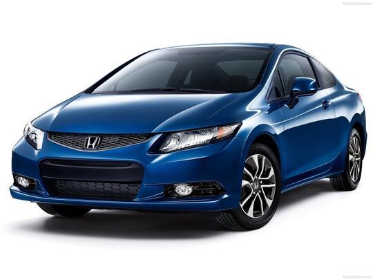 A Honda também aproveitou o Salão de Los Angeles para lançar a versão cupê do Civic