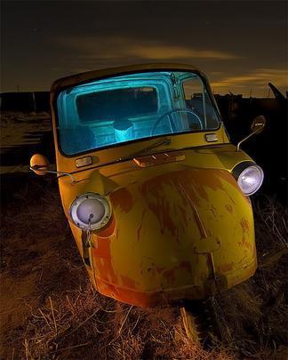 Diahatsu Midget - Troy Paiva registra imagens noturnas no Velho Oeste dos EUA