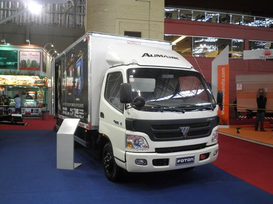 Caminhão Automark da Foton apresentado durante a Fenatran 2011.
