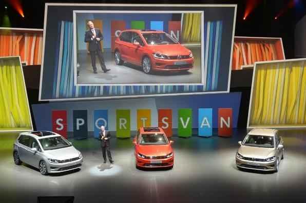 Salão de Frankfurt 2013: Heinz-Jakob Neusser, chairman da Volkswagen apresenta o Sportsvan
