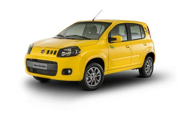 Fiat Uno Rua está disponível apenas em duas cores: Branco Kalahari e Amarelo Interlagos.