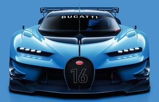 Superesportivo da Bugatti será disponível no game Gran Turismo. Linhas futuristas do Vision antecipam nova linguagem da montadora