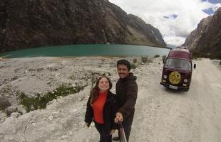 Em Cordilheira Branca, subcordilheira da Cordilheira dos Andes, no Peru