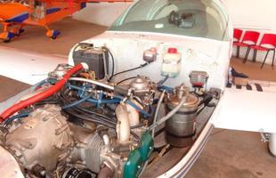 Motor Simonini acabou substituído por um Rotax de 100cv ao longo do projeto