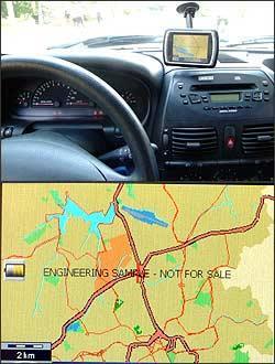 Para atender à legislação, mapa só aparecerá com carro desligado -