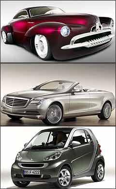 Holden EFIJY, conceito da Mercedes e o novo Smart ForTwo - GM/Divulgação - DaimlerChrysler/Divulgação