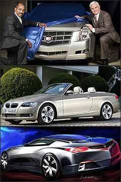 Novo Cadillac CTS, novo BMW Série 3 conversível e o conceito Acura Advanced Sports Car - GM/Divulgação - BMW/Divulgação - Acura/Divulgação