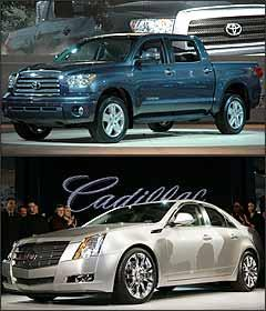 Toyota Tundra e Cadillac CTS - Rafael Bozzolla/EM - Rebecca Cook/Reuters