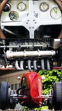 Modelo de competição tem painel com todos os instrumentos necessários e o eficiente motor seis cilindros de 1.500cm³ e 182hp de potência. Com formas aerodinâmicas, esportivo italiano conquistou vitórias em importantes provas pelo mundo -