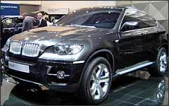 O conceito BMW X6 antecipa as linhas do novo utilitário e incorpora o conceito EfficientDynamics - Fotos: Eduardo Aquino/Especial para o EM