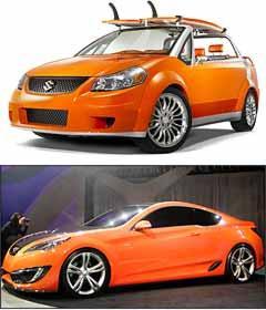 Suzuki Makai e Hyundai Genesis Cupê - Suzuki/Divulgação