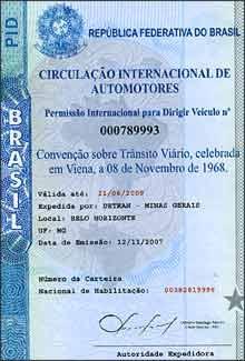 Permissão internacional de Dirigir faz referência à Convenção de Viena de 1968 -