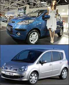 Hyundai i10 e Renault Grand Modus - Alessandro Garofalo/Reuters e Renault/Divulgação