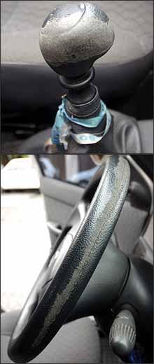 Apesar da aparência de defeito, montadora não assume o problema em todos os casos - Fotos: Maria Tereza Correa/EM - 21/12/07