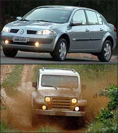 Renault contatou donos do Mégane, mas insiste que não se trata de recall. Já a Troller dá resposta surreal para defeitos do jipe T4 - Marlos Ney Vidal/EM - 9/8/06 e Renato Weil/EM - 1/12/06