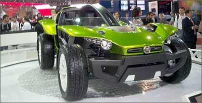 Fiat Bugster mescla conceitos, é alimentado por 93 baterias de íon lítio e tem autonomia de 100 quilômetros -