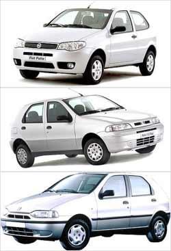 Terceira gera��o do modelo (superior) � considerada uma das mais bem resolvidas em estilo. Hatchback compacto da Fiat foi lan�ado em 1996 (abaixo), sendo reestilizado quatro anos depois (meio)