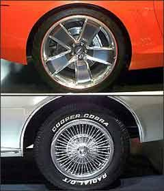 amaro da década de 1960 usa mais borracha que metal, enquanto a deste século tem muita roda e pouco pneu - Pedro Cerquiera/EM/D. A Press
