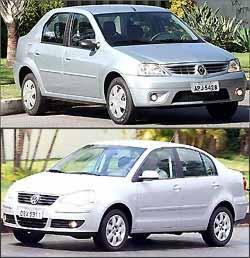 Volkswagen Polo Sedan é caro e poderia ter mais itens de série - Marlos Ney Vidal/EM/D.A Press - 14/2/08 e 7/11/06
