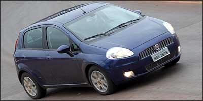 Hatch Fiat Punto tem ampla lista de itens de série e opcionais - Marlos Ney Vidal/EM/D.A Press - 13/9/07