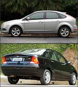 Nova geração do modelo (superior) foi lançada em 2008, com motor Duratec 2.0. Com capacidade para 490 litros, porta-malas do sedã apresenta 180 litros a mais que o hatch - Marlos Ney Vidal/EM/D. A. Press - 13/2/08 / Eduardo Rocha/RR - 14/6/04