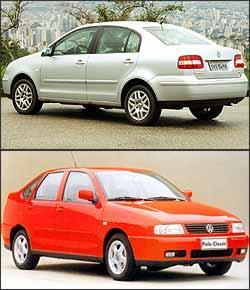 Polo Sedan também apresenta problemas com componentes frágeis da suspensão. O Polo Classic desembarcou no Brasil em 1997, e até 2002, quando chegou a nova geração, era oferecido apenas como sedã - Eduardo Rocha/RR - 9/1/03 e Arquivo EM/D.A Press