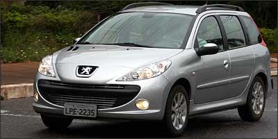 Modelos da Peugeot, como o 207 SW 1.6 16V, foram os mais bem colocados no ranking dos carros que oferecem o menor risco de serem danificados em enchentes - Marlos Ney Vidal/EM/D. A Press - 29/12/08