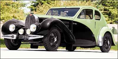 Carroceria de duas portas tem linhas aerodinâmicas e frente longa - Fotos: Bugatti/Divulgação