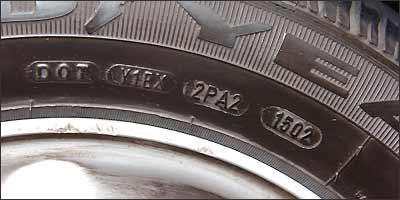 Número 15 representa a semana e 02 o ano, ou seja, foi fabricado na 15ª semana de 2002 - Jair Amaral/EM/D.A Press