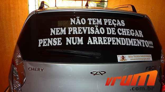 Medida extrema foi a forma escolhida para divulgar a indignação com a marca (Michele Côelho/Divulgação)