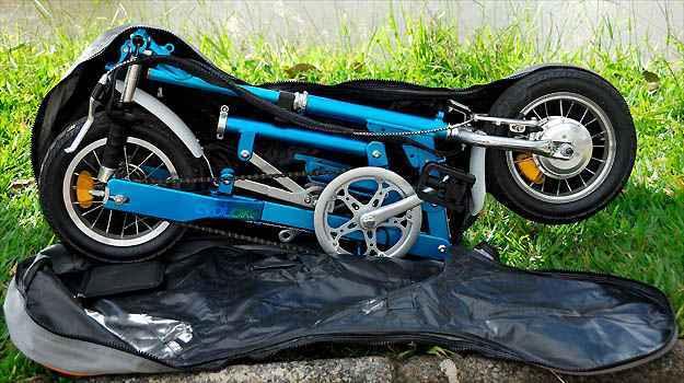 A Nano é leve, totalmente dobrável e cabe dentro de uma mochila bem prática - Cristiano Quintino/Esp. EM/D.A PRESS
