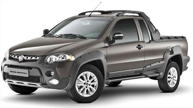 Linha 2013 da Strada deve chegar em breve nas concession�rias Fiat, quase sem nenhuma mudan�a est�tica (Fiat/Divulga��o)