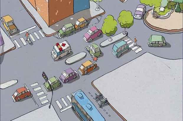 Saber se posicionar no trânsito pode evitar diversos acidentes, desde os graves até aqueles que trazem dor de cabeça e prejuízo (Arte EM)