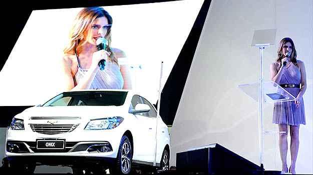 Fernanda Lima apresentou o Chevrolet Onix  - Salão do Automóvel/Divulgação