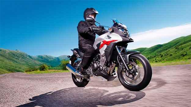 O modelo CB 500X tem voca��o aventureira e banco mais alto (Honda/Divulga��o)