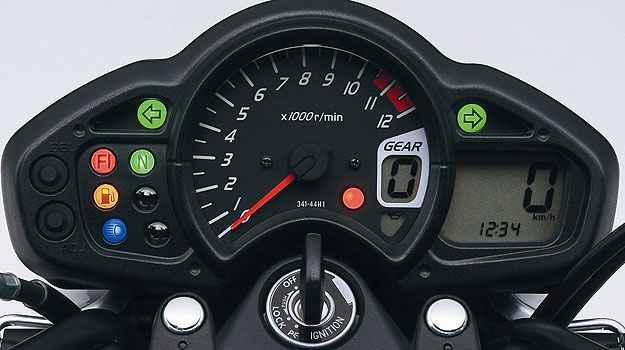 O painel da Gladius 650 mescla elementos anal�gicos e digitais - Suzuki/Divulga��o